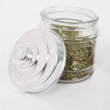 vaso di vetro di memoria dell'alimento impresso 800ml con il coperchio del metallo