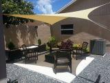 Kundenspezifisches HDPE gestricktes beständiges Garten340gsm sun-Farbton-UVsegel