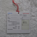 Hangtag de papel respetuoso del medio ambiente con las cadenas usadas en la ropa/la ropa/los bolsos del cabrito