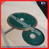 "4 "" Cutting Ceramic를 위한 터보 Diamond Saw Blade Hot Press Long Life Super Thin"