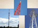 Types van Toren van de Antenne van het Staal van de Mast van Guyed van Telecommunicatie Monopole in China worden gemaakt dat