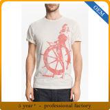 Maglietta stampata 100% degli uomini del cotone del commercio all'ingrosso