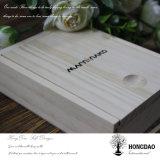 Hongdao kundenspezifischer hölzerner Kasten mit zwei Teil für Fotos und USB Wholesale_L