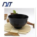 Ciotola di insalata di legno di bambù rotonda resa personale della ciotola di insalata con il cucchiaio