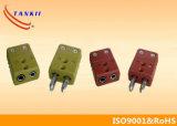 青緑の黄色の黒白いカラー熱電対コネクター(タイプK、J、EのT)