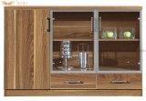 Het moderne Kabinet van de Thee van het Meubilair van het Hotel Houten met de Deuren van het Glas (hy-C07)