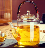 古典的な裁判所のStype水Juicerのガラス茶鍋のやかん