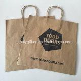 Personalizar a impressão do logotipo recicl o saco do presente do papel de embalagem