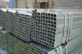 Tallas de tubo de hierro cuadradas de acero galvanizadas carbón suave