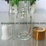 Bottiglia di vetro del contagoccia per l'ambra verde blu dell'olio essenziale