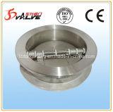 Válvula de cheque del acero inoxidable de la placa doble