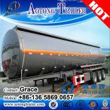 del petrolio greggio 45000L/diesel/benzina del serbatoio di combustibile rimorchio semi, rimorchio inossidabile dell'autocisterna