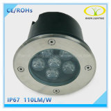 Luz subterrânea redonda do diodo emissor de luz do preço de fábrica IP67 com aprovaçã0 de Ce/RoHS