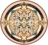 꽃 패턴 (모자이크 111)를 가진 대리석 Water-Jet 큰 메달 도와