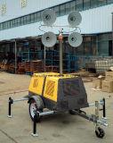 телескопичная передвижная светлая башня 400W*4 с известным тепловозным генератором (FZMT-400B)