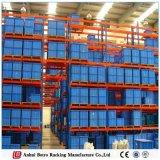 Défilement ligne par ligne vendu et durable de puits de mémoire d'entrepôt de palette pour la mémoire de nourriture