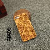 Caisse en bois découpée normale en bois de cerise pour l'iPhone 7/7 positifs