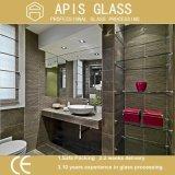 壁に取り付けられた浮遊6つ- 12のmmの浴室のアクセサリの/緩和されたガラスの棚