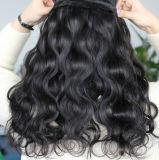 Do cabelo peruano de Remy da onda do corpo tecelagem cabelo de trama/humano