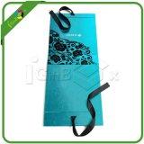 Caja de papel plegable personalizada con la cinta de seda Cierre Imán