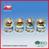 65mm Christmas Glass Water Globe Christmas Scene in Snow Globe