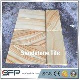 Сляб песчаника вены высокого качества желтый деревянный для сбывания
