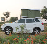 Tente extérieure de dessus de toit de camping-car avec la tente résistante pliée de dessus de véhicule d'interpréteur de commandes interactif d'échelle de véhicule de vent dur de tente