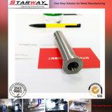 Precisión del CNC que trabaja a máquina con acero inoxidable