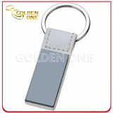 品質のカスタム押された鋼鉄によってブラシをかけられる終わり耐久の革Keychain