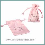 Sacchetto cosmetico del pacchetto del sacchetto cosmetico del Drawstring del raso di alta qualità