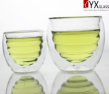 220ml二重壁のガラスティーカップか二重壁のガラスコーヒーカップまたは二重壁のガラスThermosのコップ