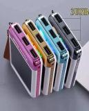 De kleurrijke Bank van de ZonneMacht van het Embleem Waterdicht met 3PCS de Havens van USB