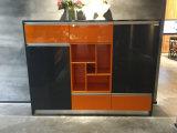 Cor brilhante gabinete de cozinha moderno combinado da laca do lustro elevado