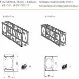 ボルト継手の長方形のトラスまたは段階のトラスかトラスシステムまたは段階の装置またはトラスブースまたはトラス立場またはアルミニウムトラスかトラス表示またはトラスプロジェクト