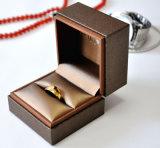 Contenitore di regalo di cuoio dell'imballaggio della vigilanza dell'anello della casella di memoria dei monili del velluto (YS111)