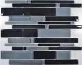 Mosaico de la mezcla del vidrio y del mármol de la raya
