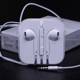 Écouteur blanc avec la MIC pour l'écouteur d'iPhone avec le cadre en cristal