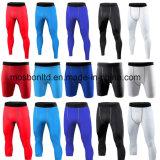 メンズ圧縮はフットボールの基層のタイツを循環させるショートパンツのズボンを越える