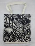 Lange Griff-BaumwollEinkaufstasche mit schönem Drucken