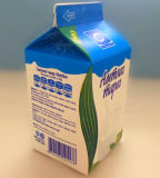 500g 곡선을%s 가진 신선한 우유 박공 상단 판지