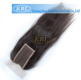 pacote do cabelo louro do Virgin 5A com fechamento do laço