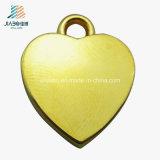 عالة نوع ذهب قلب شكل زنك سبيكة معدن مجوهرات مدلّاة لأنّ ترقية هبة