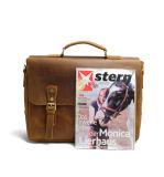 Bonne qualité sac fourre-tout à l'italien Crazy Horse Leather Messenger