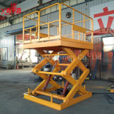 Il magazzino ha usato il caricamento del carico che scarica Leveler della piattaforma dell'elevatore l'più alto
