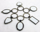 方法ギフト亜鉛合金のブランクの昇華金属のキーホルダー
