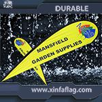 防水広告の羽の上陸海岸表示旗の表示