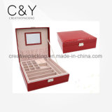 Boîte-cadeau en cuir de bijou d'unité centrale
