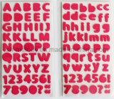 Scrapbooking를 위한 다색 중간 알파벳 a~Z, a~Z, 0~9의 거품 스티커 및 Cardmaking