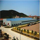 Stahlrahmen-Aufrichtung-Werkstatt-Bauvorhaben