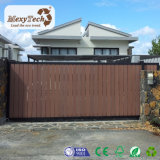 Porte de clôture composée coulissante électrique personnalisée de WPC